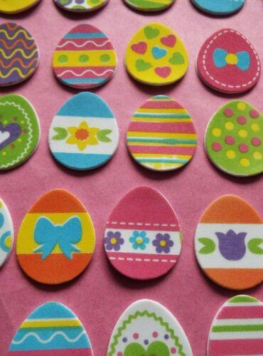 Pack 25 coloré en Mousse Oeuf de Pâques en forme de stickers