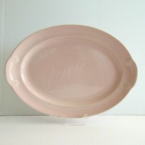 LuRay-Pastel-Pottery-Pink-Platter-Taylor-Smith-amp-Taylor-13-034-x-9-034-T-S-amp-T-Lu-Ray