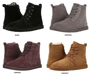 UGG-Men-039-s-Harkley-Chukka-Boots-Casual-Fashion-Shoes-Suede-Black-Chestnut-1016472