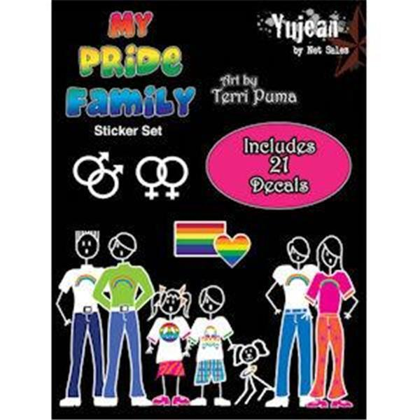 Gay Family Auto Decals My Pride Family 21 Decal Set Rainbow LGBTQ Rights Resist