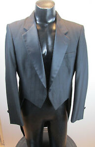 MENS-VINTAGE-NOTCH-TAILS-TUXEDO-JACKET-RAFFINATI-BLUE-HIGHLITE-PINSTRIPE-40L