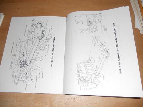 1969 ford f100 f250 f350 f100 wiring diagrams manual
