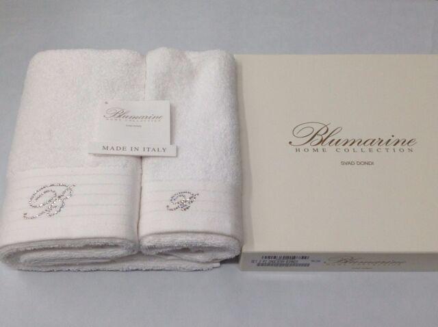 b730ac0cec Asciugamani bagno Blumarine Crociera 100% cotone 100% spugna con Swarovski;  Foto 2 di 8 ...