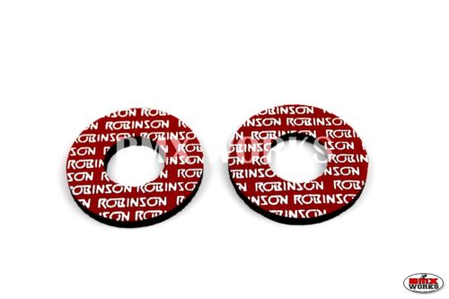 ProBMX Flite Style Old School Robinson Early BMX Grip Donuts Pairs Red /& White