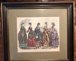 Antique-Godey-s-Fashion-Ad-Framed-December-1870