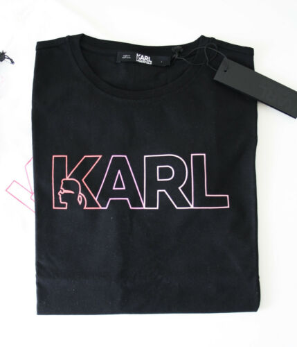 KARL LAGERFELD T-Shirt KARL SHADES LOGO TEE Gr S M L  schwarz 94kW1740