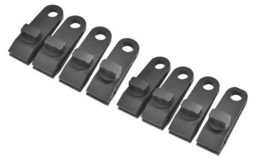 Pack of 8 Heavy Duty Reusable Nylon Tarpaulin Canopy Clips Screw On Clamps