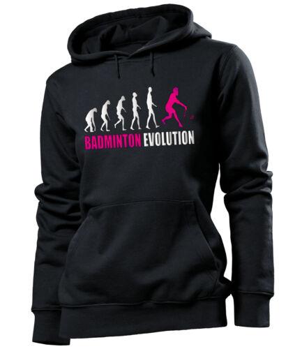 BADMINTON EVOLUTION Damen Kapuzenpullover S-XL
