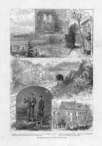 1881-Antique-Print-SUSSEX-BRIGHTON-RAILWAY-Tragedy-Horley-Balcombe-Tunnel-230