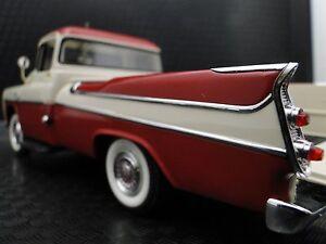 Dodge-Pickup-Truck-1950s-Vintage-Antique-1-24-Scale-Metal-Model-Carousel-Red