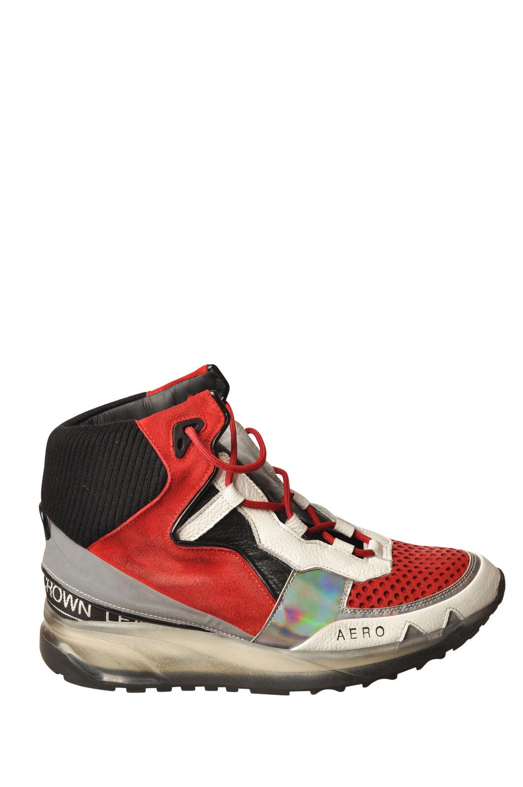 Leather Crown - Schuhe-Turnschuhe-hohe - Frau - Rot - 5859405A194034