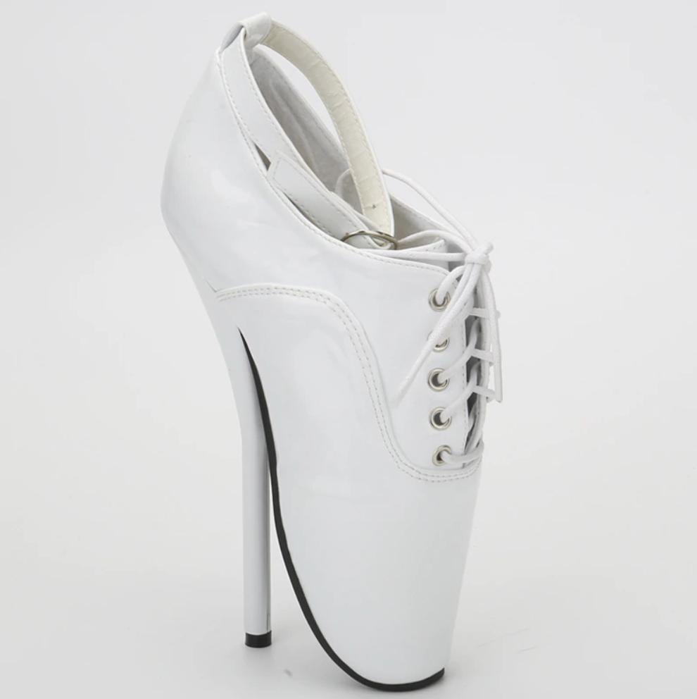 Sexy Extreme tueur Fetish Ballet Chaussures Bottes 18 cm SUPER SUPER SUPER Talon Haut Lacets danseuse ae5e34