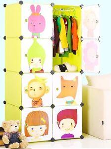 Plastic Wardrobe Cupboard Almirah Kids-Slx- Lkl-68- Pgn