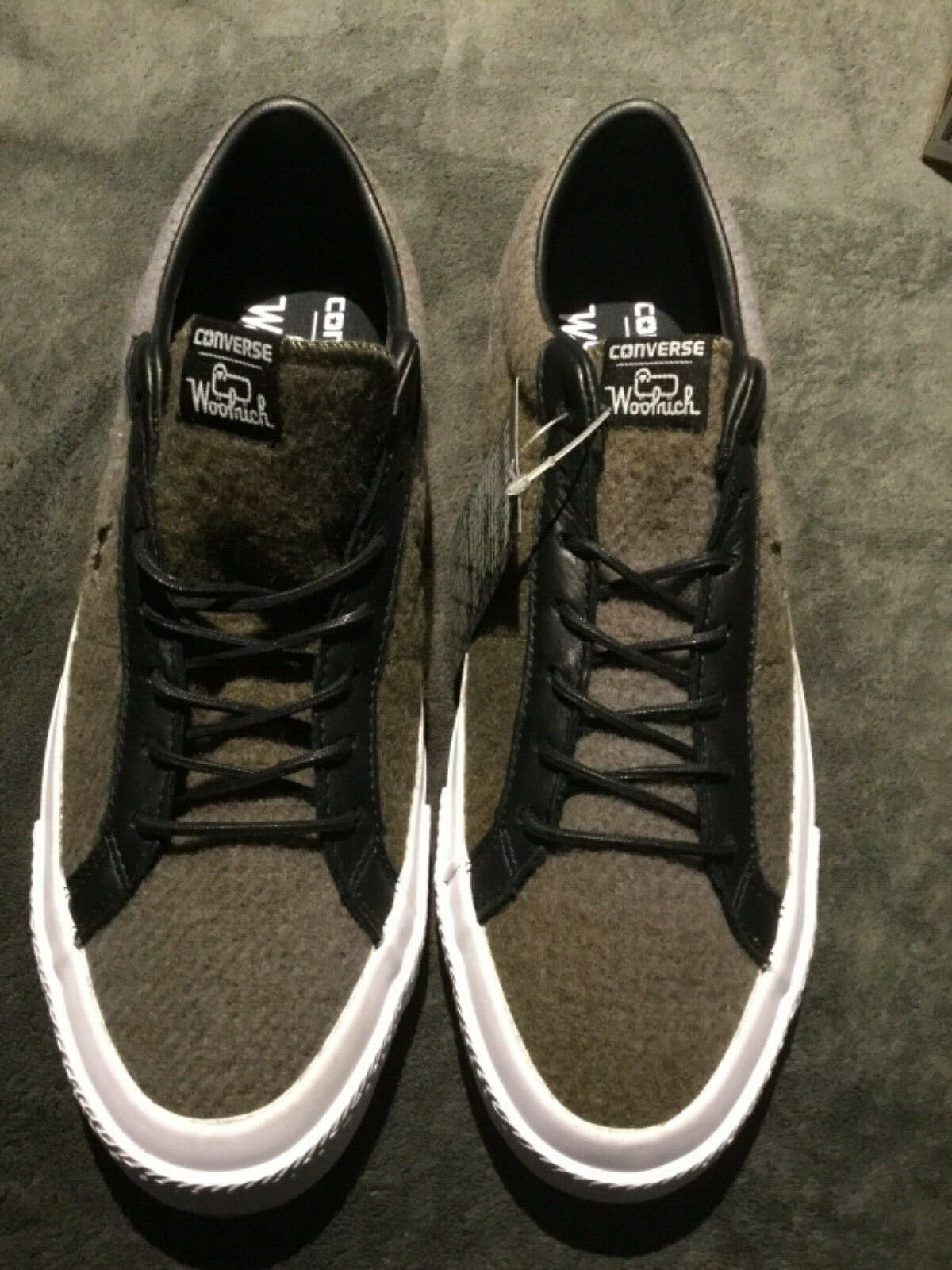 Converse one star woolrich ox jute herbal  black size m10.5 w12.5 NWT