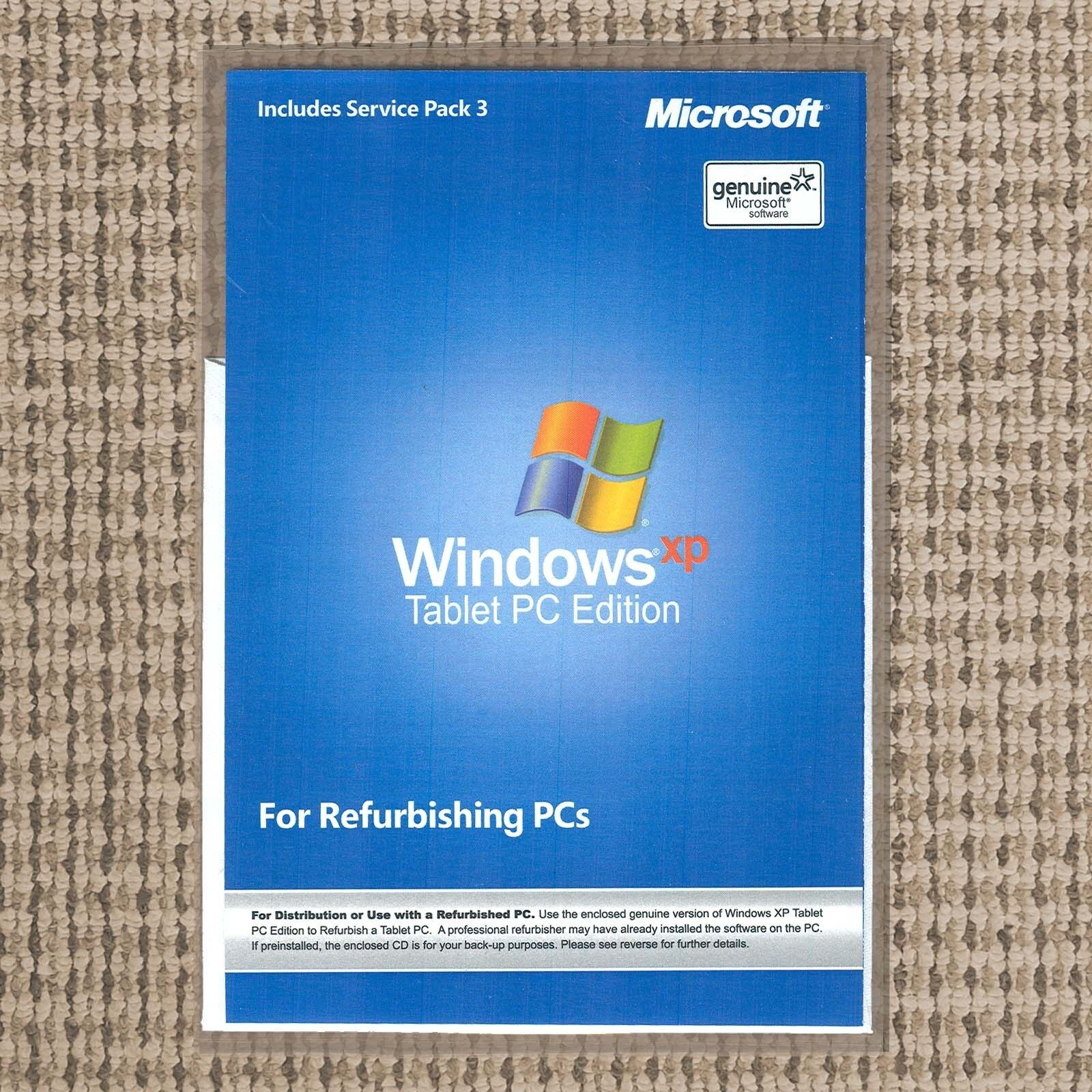 New Windows XP Tablet PC Edition 2005 Install Reinstall Disc Repair CD No  Key