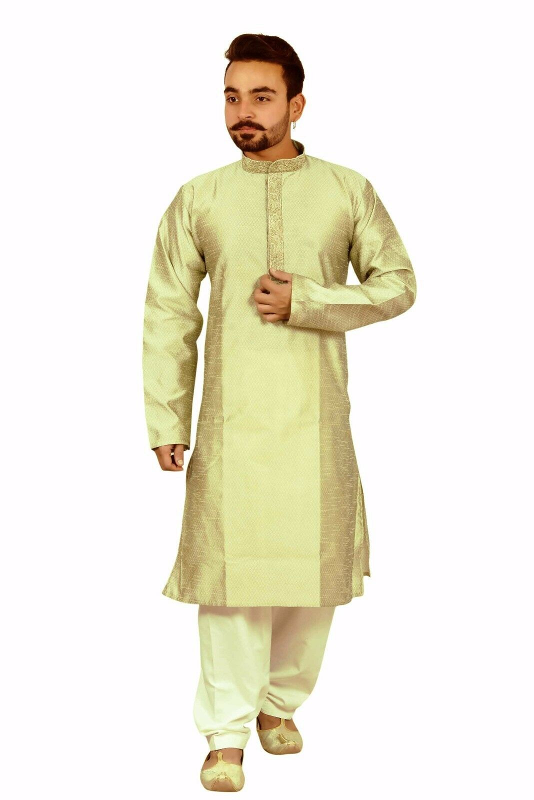 Men's Indian fashion kurta contrast Salwar kameez pyjama party wear sherwani 816