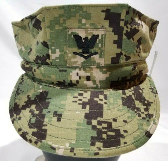 NWT NWU Type III Navy Seal AOR2 Digital Woodland UTILITY 8 Point CAP Hat 7 3//8