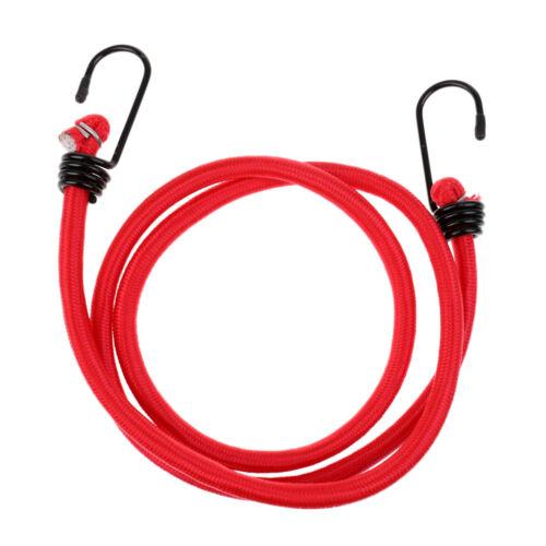 8mm 1.2 Meters Bungee Cords Metal Hooks Elastic Strap Rope Car Tie Down Luggage