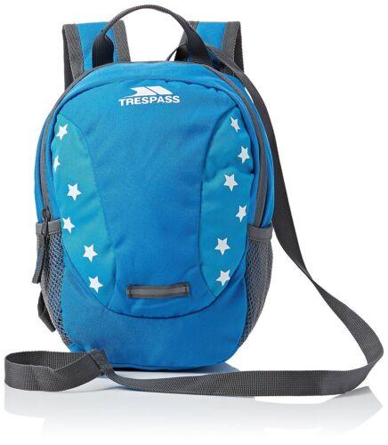 Trespass Bambini Tiddler Zaino con stelle blu 3 L CABLAGGIO 3 LITRI la sicurezza rein
