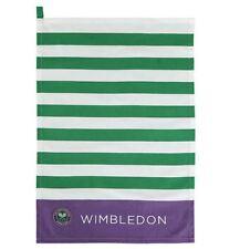 WIMBLEDON THE CHAMPIONSHIP OFFICIAL PURPLE GREEN WHITE TEA TOWEL BRAND NEW
