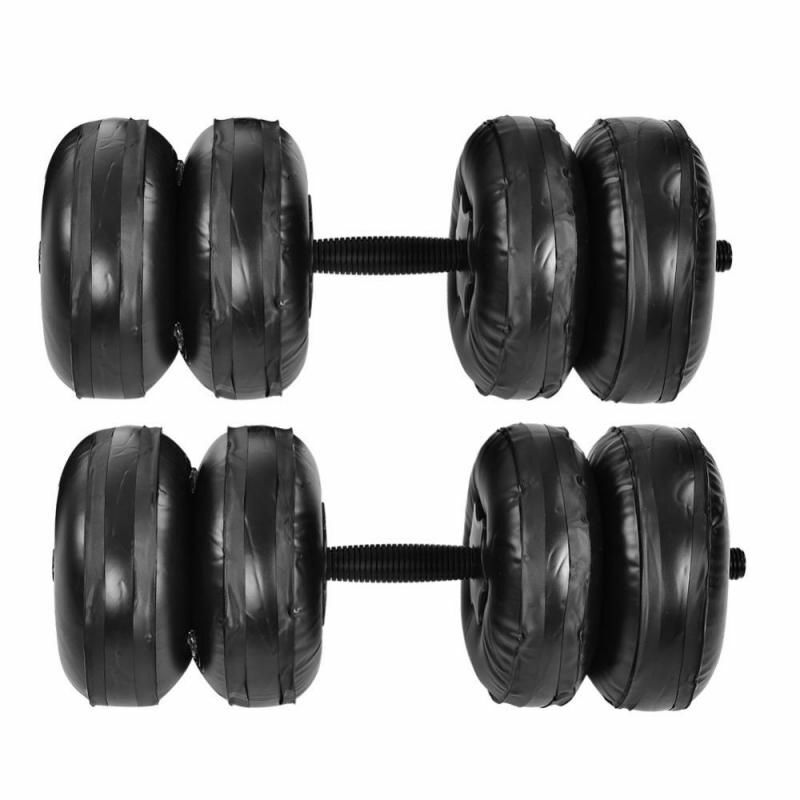 Portable  Water Dumbbell Set Adjustable Weight Body Building Gym Inflated Fitness  save up to 70% discount
