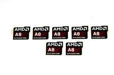 AMD Elite Quad Core A8 Sticker 7x Stück pcs Aufkleber CPU Laptop Label logo neu