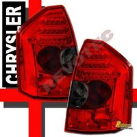 05 06 07 Chrysler 300-c 300c Srt-8 Led Tail Lights Lamps Red Smoke