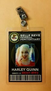 Suicide-Squad-Id-badge-Belle-Reve-Harley-Quinn-cosplay-costume-Prop