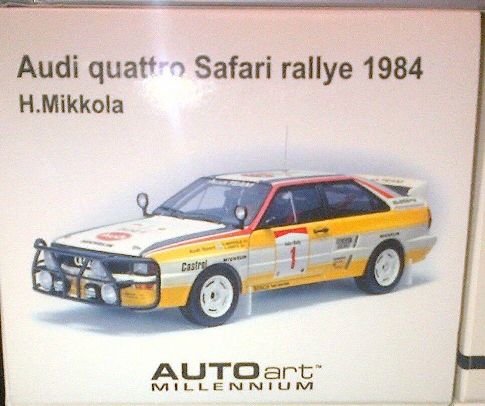 Audi Quattro LWB A2 Rallye 84' H.Mikkola  1-jaune 1 18 SCALE AUTOart IN BOX