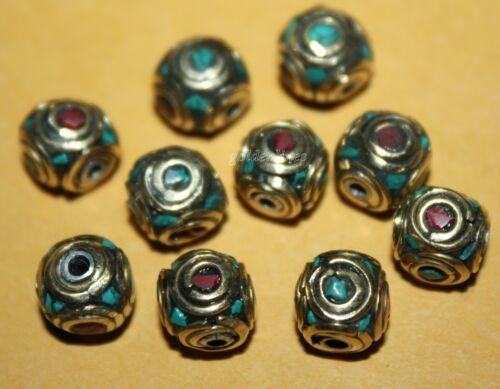 Tibetan beads Nepal beads turquoise beads Coral beads Nepalese Beads Boho beads