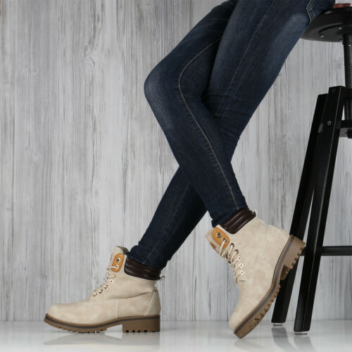 Warm Gefütterte Damen Outdoor Stiefeletten Worker Boots 892726 Top