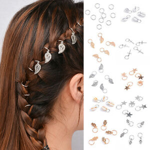 5pcs Fashion Beaded Hair Rings Hair Jewelry Braids