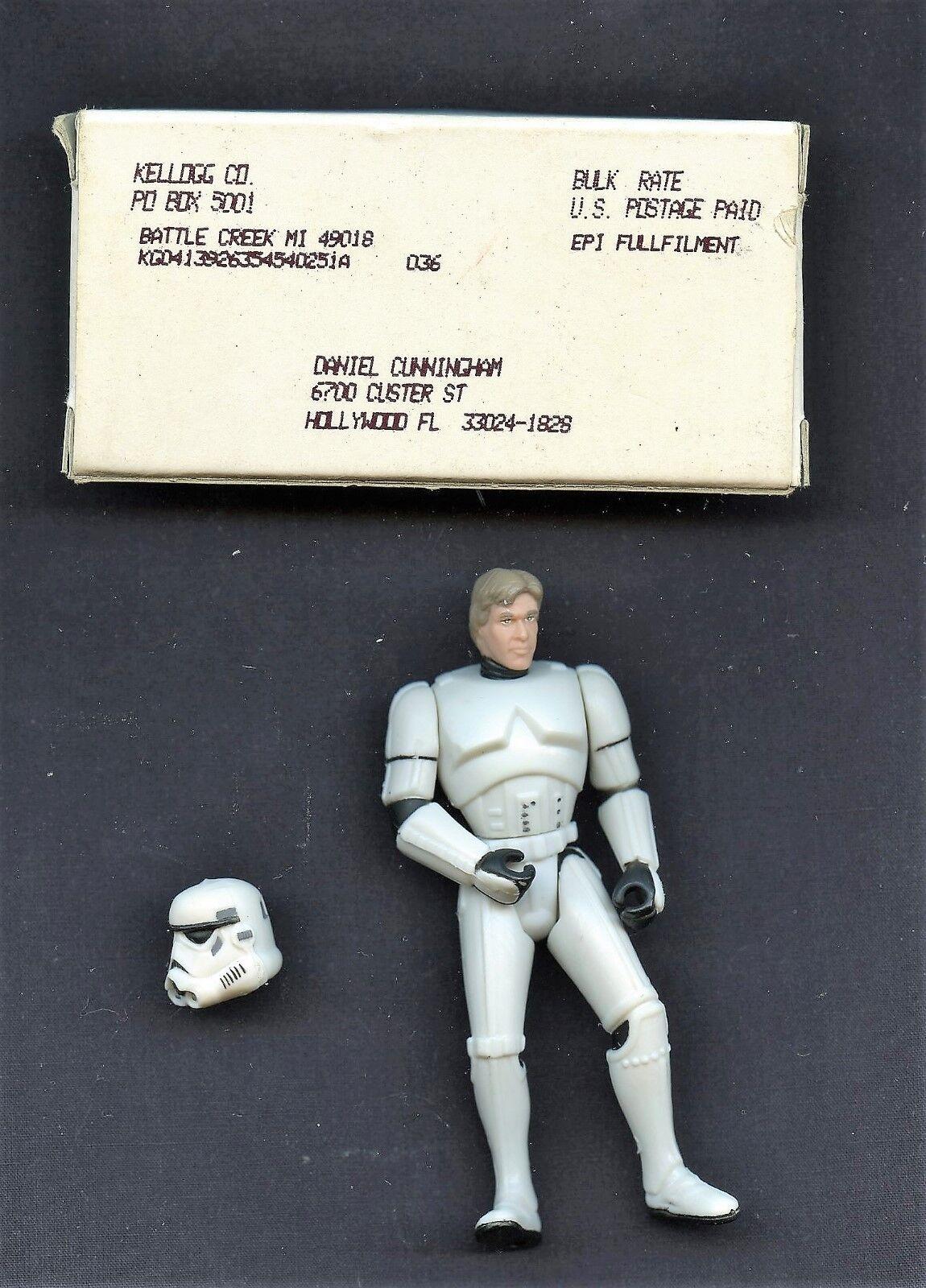 Luke skywalker als stormtrooper star - wars - jahrgang kellogg 3.5.action - figur