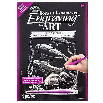 Engraving Art Scraper Foil Kit Silver Gold Rainbow Copper 48 Designs A4