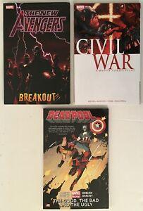 New-Avengers-Breakout-Vol-1-Civil-War-DeadPool-3-Marvel-TPB-Graphic-Novels