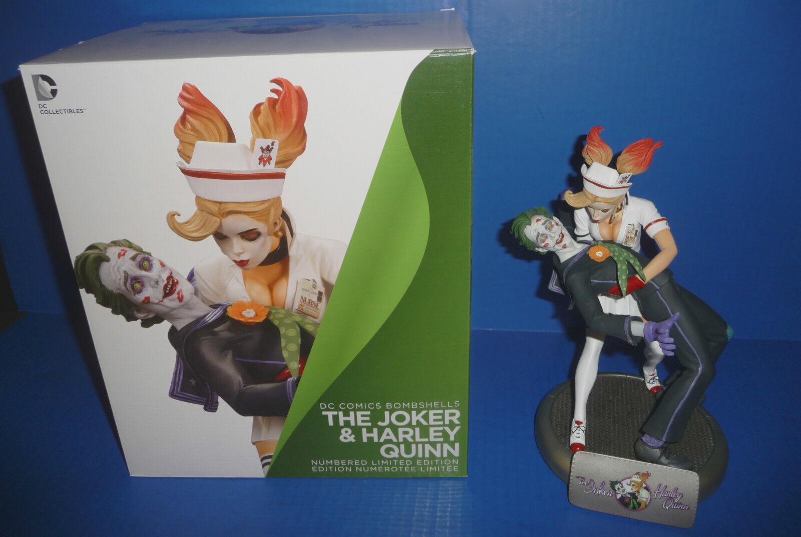 Batman DC Comics Bombshells Joker and Harley Quinn Statue 1st Edition Read Below