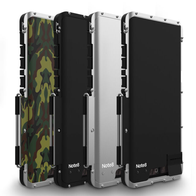 new arrival fa4ab 232b6 For Samsung S10 S9 High Quality Shockproof Aluminum Armor Metal Flip Case  Cover