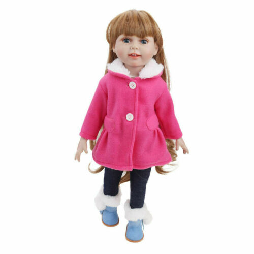 """Sweet Fits 18/"""" Inch American Girl Doll Clothes Winter Dress Suit Outfit Coat Set"""