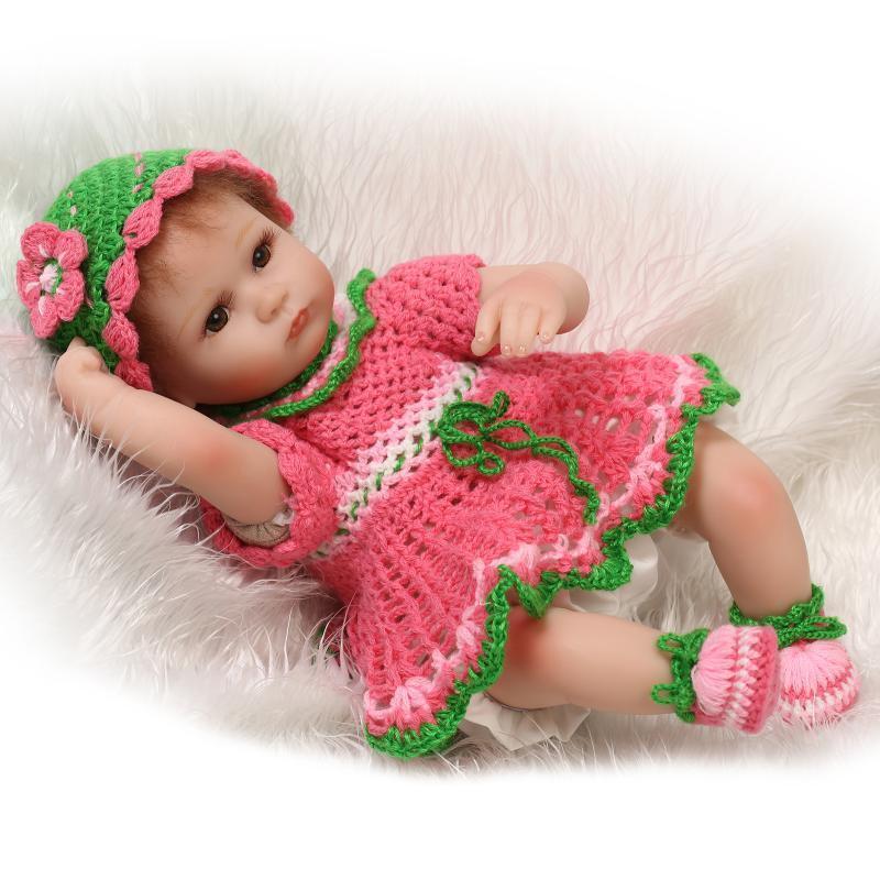 18  Muñeca Reborn bebé hechos a mano recién nacido realista Suave Silicona Vinilo Niña + Ropa