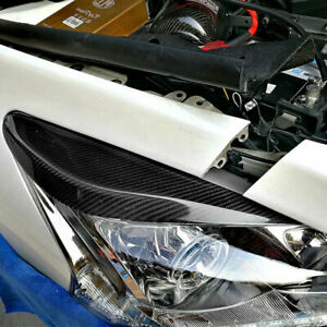 2 x Carbon Fiber Front Corner Protector Cover Trim For Nissan Teana Altima 13-15