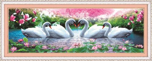 DIY 5D Schwan Ewige Liebe Diamant Malerei Kreuzstich Bild von Strass Handwerk