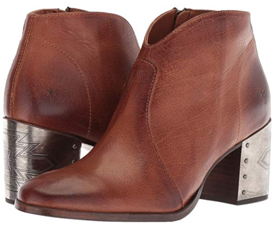 New in Box FRYE Womens Nora Omaha Short Ankle Boots Cognac MSRP   328 79928