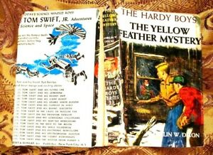 THE-YELLOW-FEATHER-MYSTERY-1958-HARDY-BOYS-HB-WITH-DJ