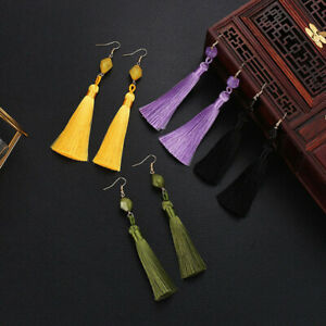 Women-Dangle-Earrings-Long-Tassel-Bohemia-Multi-colors-Drop-Earring-Jewelry-D