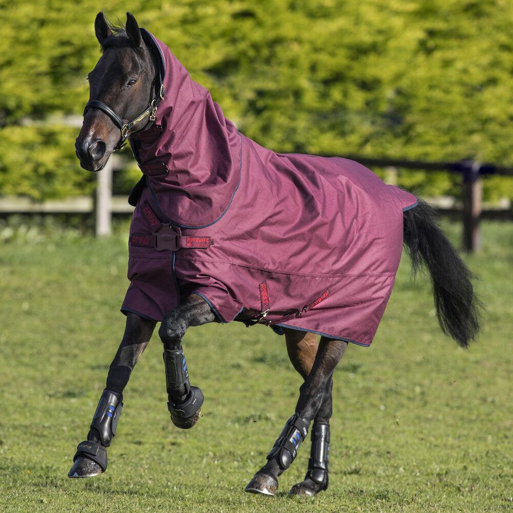 Horseware Amigo Hero ACY Plus Turnout 200g Medium DISC - Burgundy/Navy