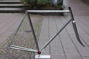 Bottecchia-Professional-Columbus-Frame-Chromed-56-cm-2-585g-Rahmen-Fork-sl