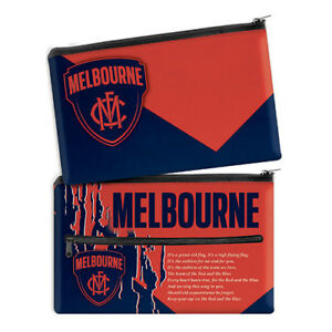 QUALITY-LARGE-AFL-Melbourne-Demons-Pencil-Case-School-Work-stationary-Gift-SALE