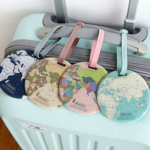 Indigo world map travel suitcase luggage name address id tag badge image is loading indigo world map travel suitcase luggage name address gumiabroncs Image collections