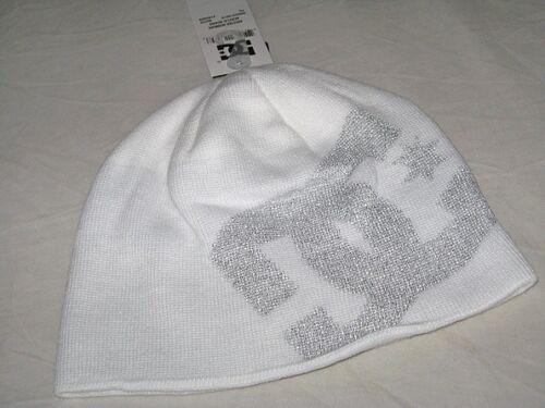 Bnwt-DC Shoes Big Star Beanie Hat Blanc