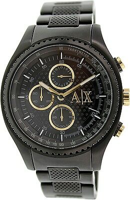 Armani Exchange Men's AX1604 Black Stainless-Steel Quartz Dress Watch